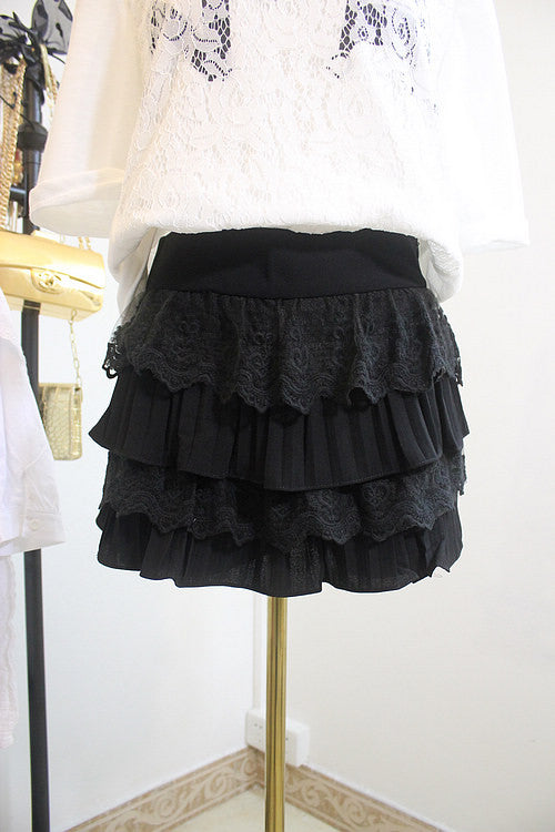 Multi-Layer Lace Skorts , Bottoms - Trinity Styles, Trinity Styles  - 3