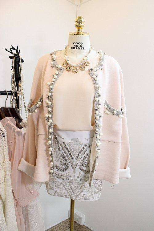 Coco Style Pearl Cardigan , Outerwear - Trinity Styles, Trinity Styles  - 3