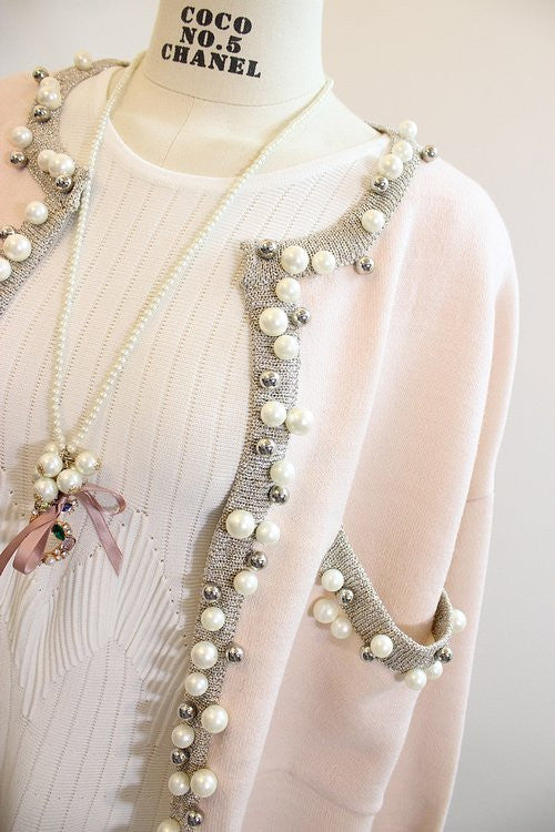 Coco Style Pearl Cardigan , Outerwear - Trinity Styles, Trinity Styles  - 2
