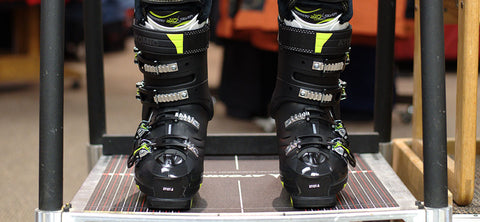 Ski boot alignment and custom fitting