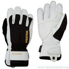 Women's Hestra Gloves - White/Black