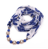 Jeweled Chiffon Infinity Scarf