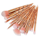ROSE GOLD Unicorn Diamond Makeup Brush 15 Piece Set