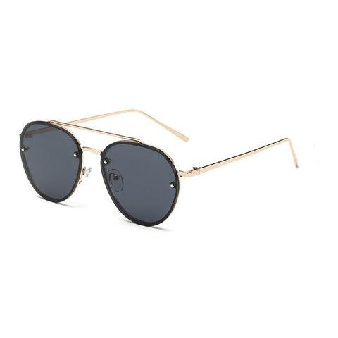 Retro Wire-Frame Mirrored Sunglasses