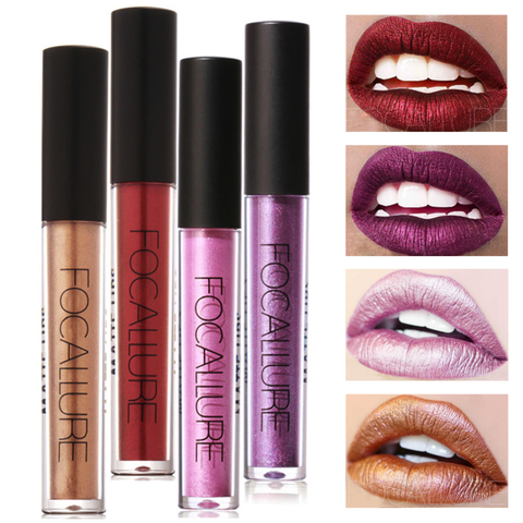 FOCALLURE™ Metallic Matte Liquid Lipstick