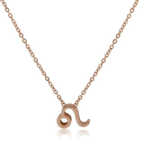 Rose Gold Minimalist Zodiac Necklace