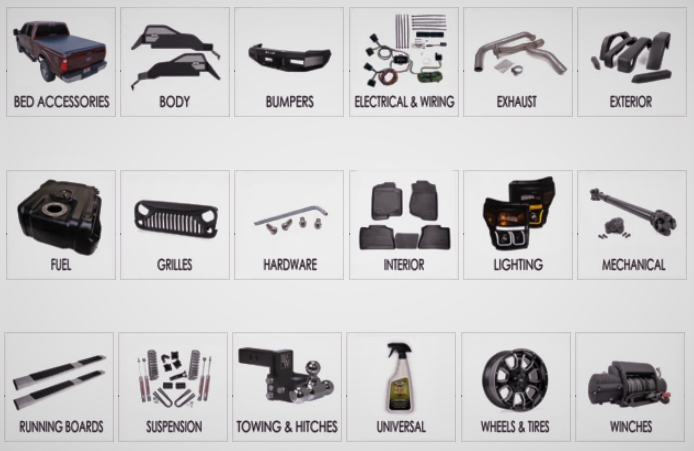 King Series Trucks, Parts and Accessories NEW AFTERMARKET PARTS & ACCESSORIES