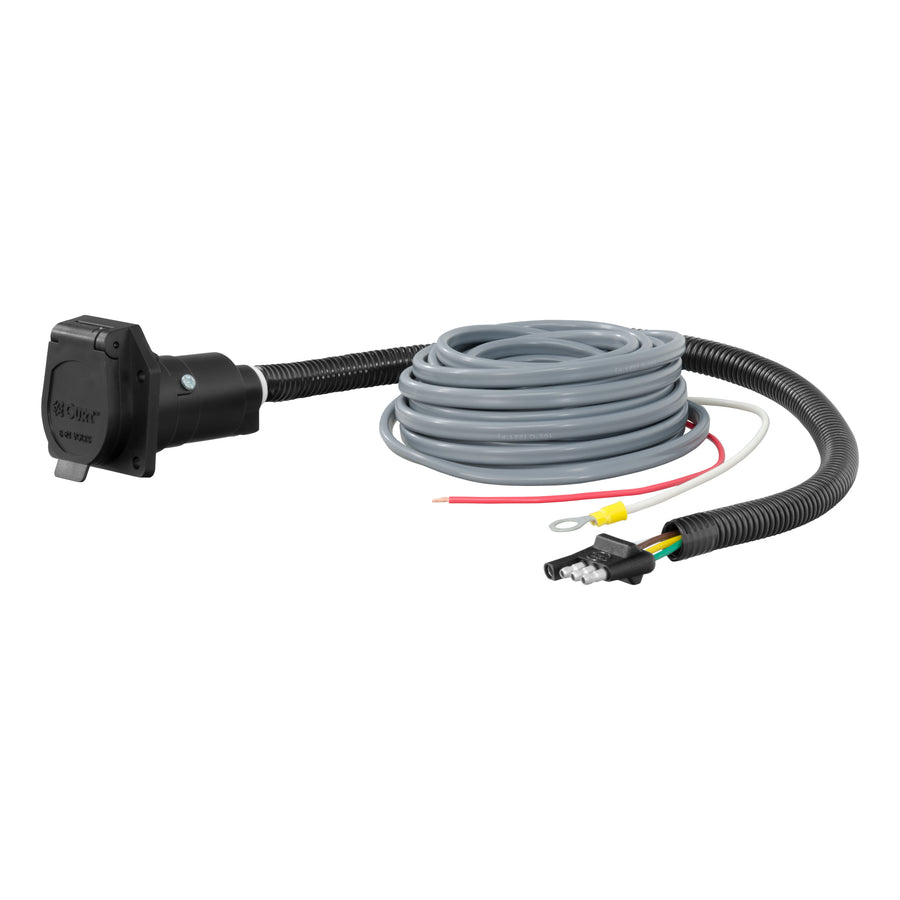 4-Way Flat Electrical Adapter with Brake Controller Wiring