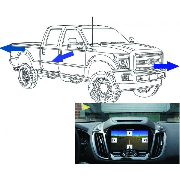 King Series Trucks Parts Accessories, camera source 2017 super duty front rear and side camera kit sync 3