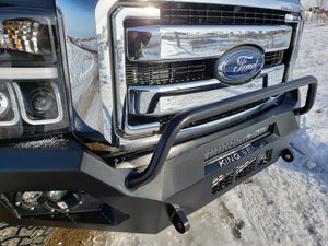 "King Series ""VENOM""  Custom Front Bumper with Lighting Package, Ford Super Duty 2011-2016, Proudly fabricated in the U.S.A."