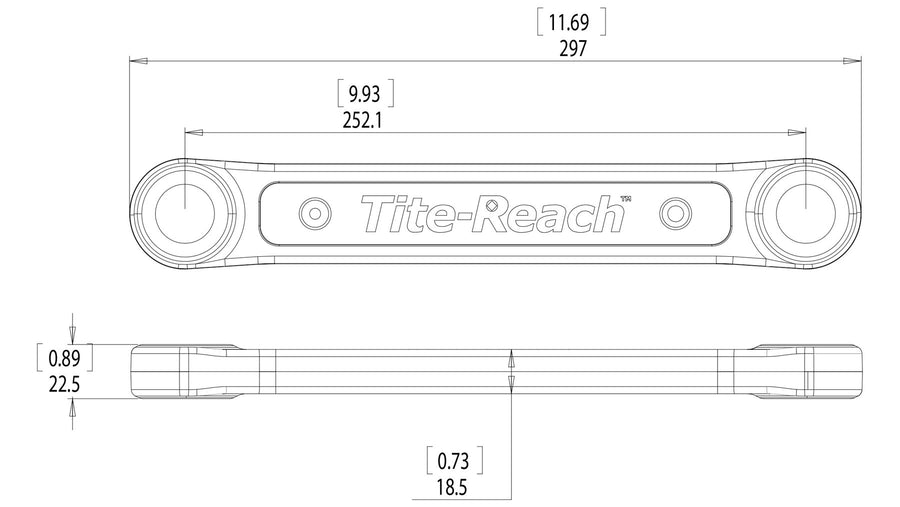 "King Series 3/8"" Professional Tite-reach Extension Wrench, designed to be used with your own sockets and wrenches, 10"" inches of reach"