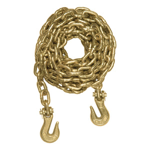 14' Transport Binder Safety Chain with 2 Clevis Hooks (26,400 lbs., Yellow Zinc) - King Series Trucks, Parts & Accessories