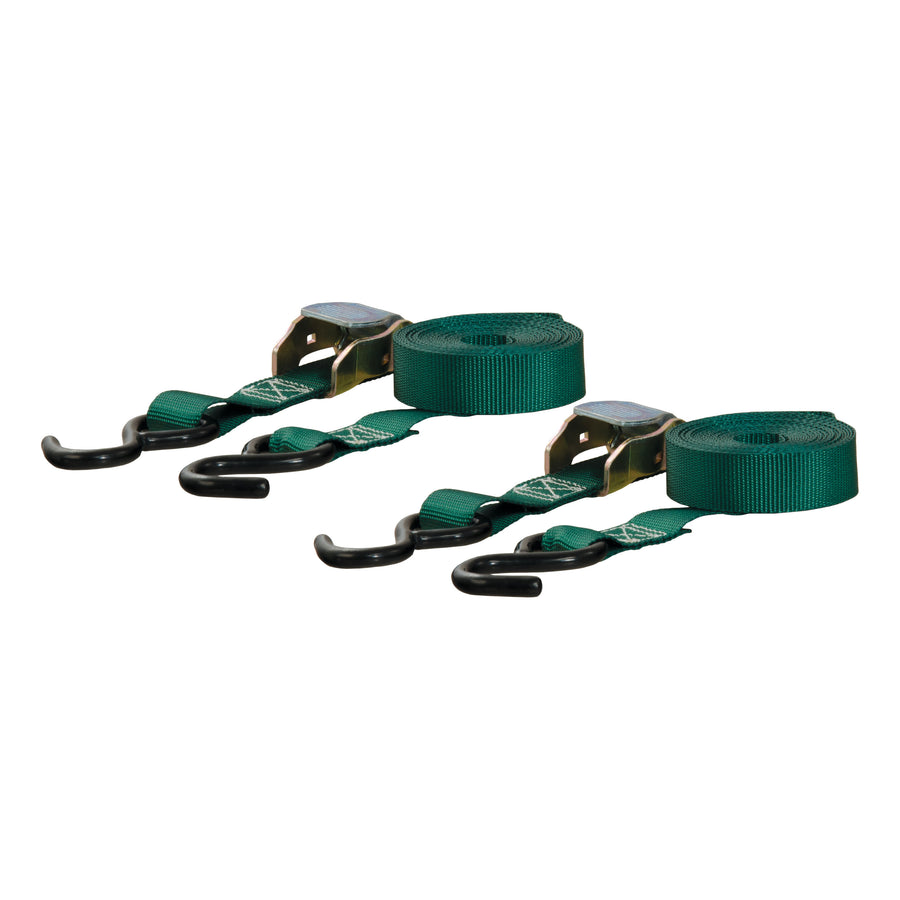 15' Dark Green Cargo Straps with S-Hooks (300 lbs., 2-Pack) - King Series Trucks, Parts & Accessories