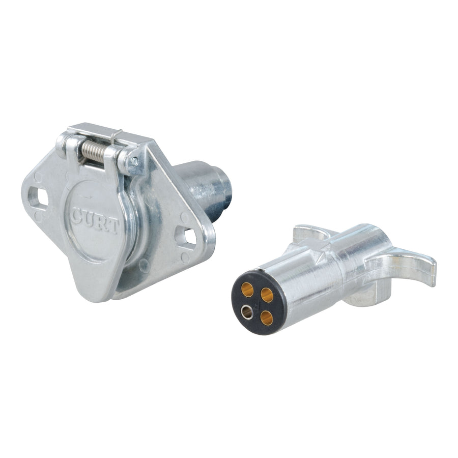 4-Way Round Connector Plug & Socket (Packaged)