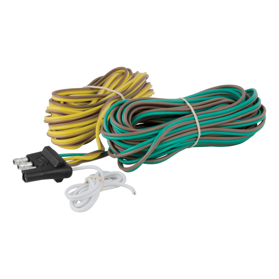 4-Way Flat Connector Plug with 20' Wires (Trailer Side, Packaged)