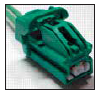 WPT-1163 3U2Z-14S411-JYB NEW FORD MOTORCRAFT OEM 2 CAVITY PIN PLUG PINS PIGTAIL WIRING CONNECTOR Lamp - Headlamp Switch