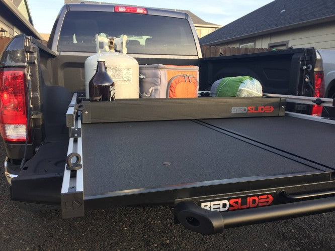 King Series Trucks Parts Accessories, BED SLIDE BLACK BEDBIN DECK DIVIDER, Made in the USA. Make the most of your truck Bed space