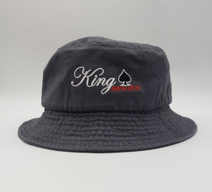 "King Series 6 Door Pickup Truck Bucket Cap 8.25 oz (275-285 gsm)., 100% bio-washed chino twill Unstructured, 31/2"" crown Sewn eyelets 2"" brim (tolerance 1/2"") One Size Fits Most: 7 1/2 - 7 5/8"