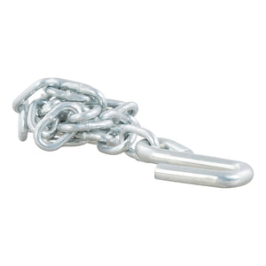 "27"" Safety Chain with 1 S-Hook (2,000 lbs., Clear Zinc)"
