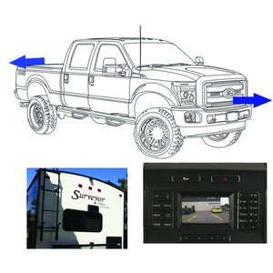King Series Trucks Parts Accessories, camera source 2017 super duty front rear and trailer camera kit for 4 2 displays