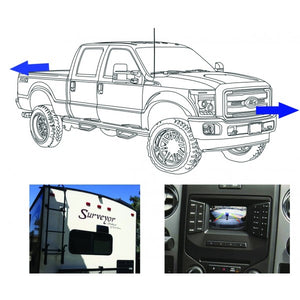 King Series Trucks Parts Accessories, camera source 2013 16 super duty front rear and trailer camera kit for 4 2 displays