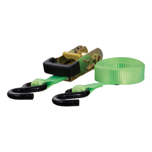 16' Lime Green Cargo Strap with S-Hooks (1,100 lbs.) - King Series Trucks, Parts & Accessories