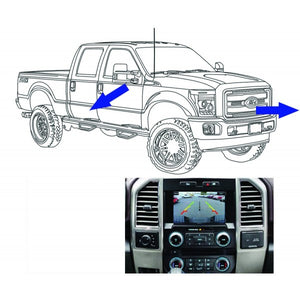 King Series Trucks Parts Accessories, camera source 2013 16 super duty front and side camera kit for 8 display