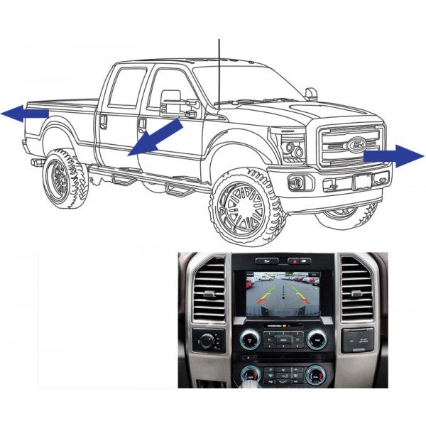 King Series Trucks Parts Accessories, camera source 2013 16 super duty front rear and side camera kit for 8 displays