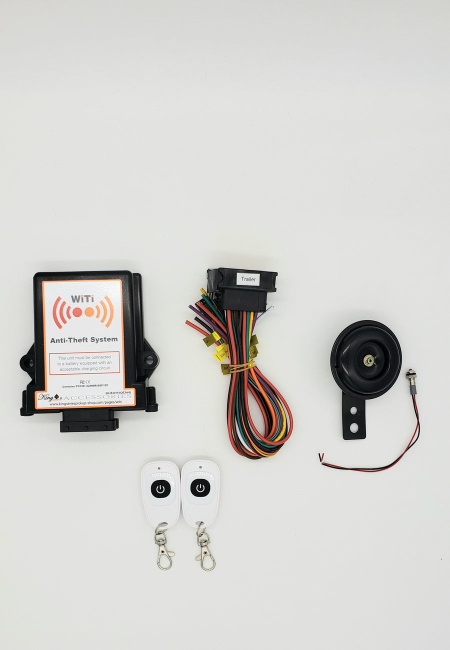 King Series WiTi Wireless Camper Trailer RV Anti-Theft System, WiTi Anti-Theft is now available with QuikProtect GPS Tracking