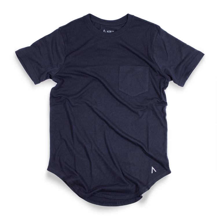 Acrux Scoop Pocket Tee (Navy) - Acrux Scoop Pocket Tee (Navy) -
