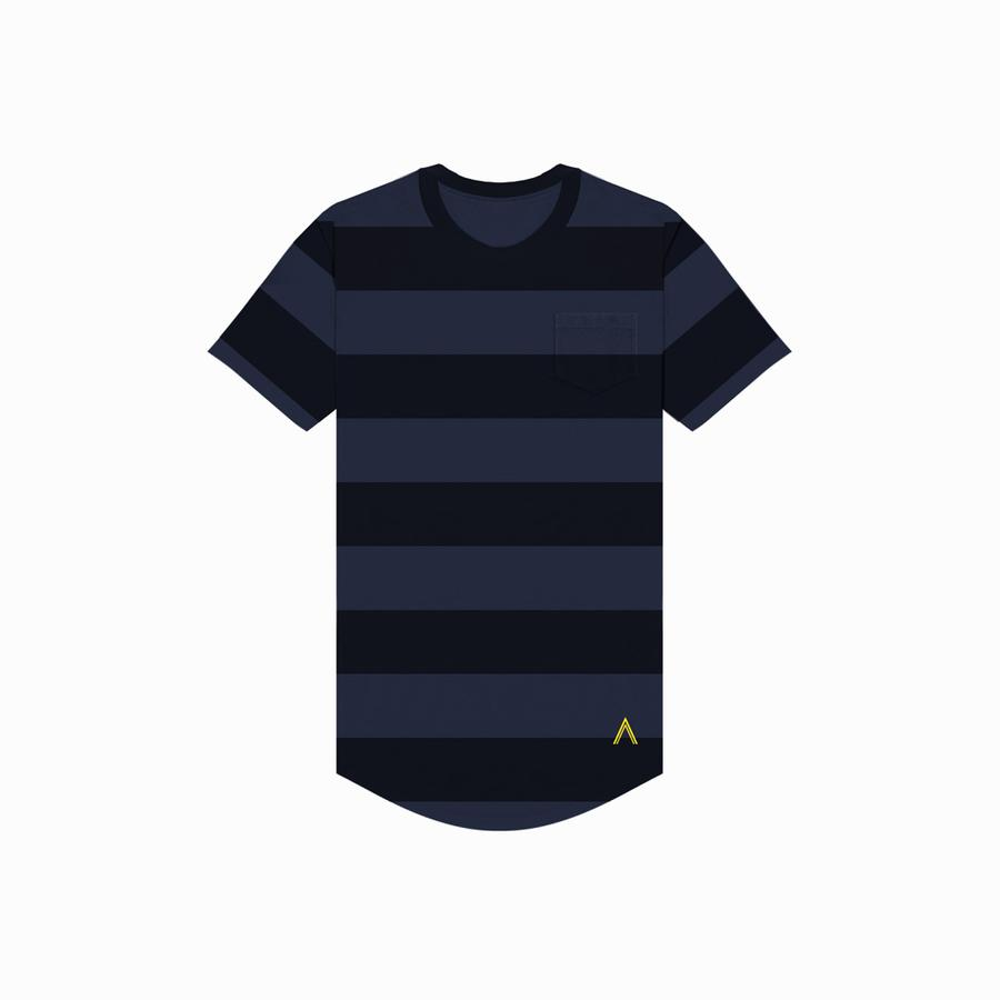 Acrux Striped Scoop Tee (Navy/Black)