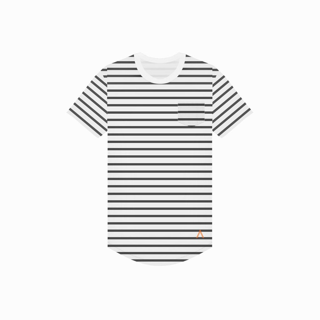 Acrux Striped Scoop Tee (Black/White)
