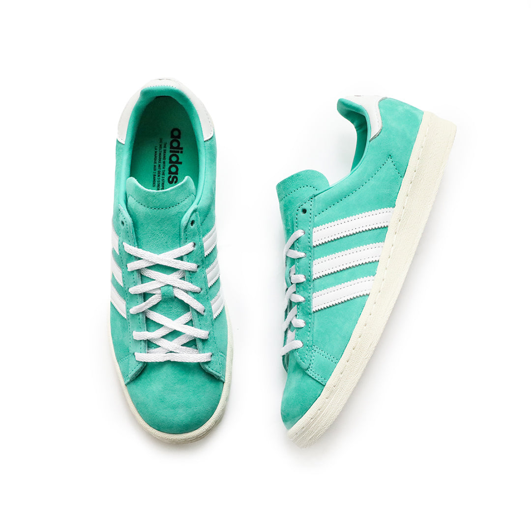 Adidas Campus 80 (Green/Shock Mint-White) - Adidas Campus 80 (Green/Shock Mint-White) -