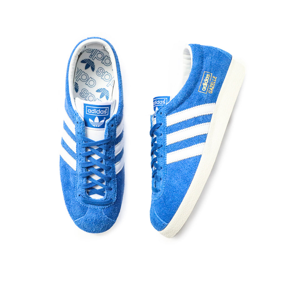 Adidas Gazelle Vintage (Blue/White-Gold Metallic) - Adidas