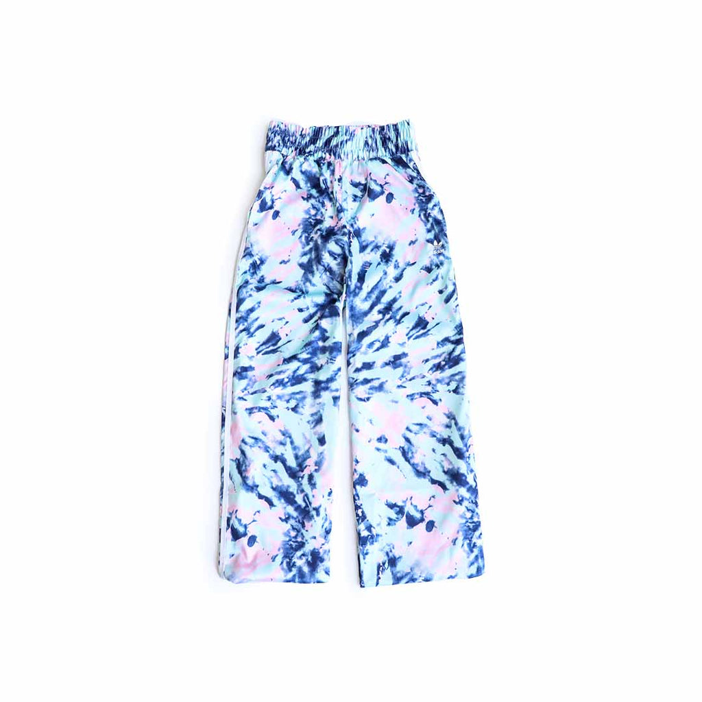 Adidas Women's Satin Pants (Multicolor/White/Vapor Blue/True Pink)