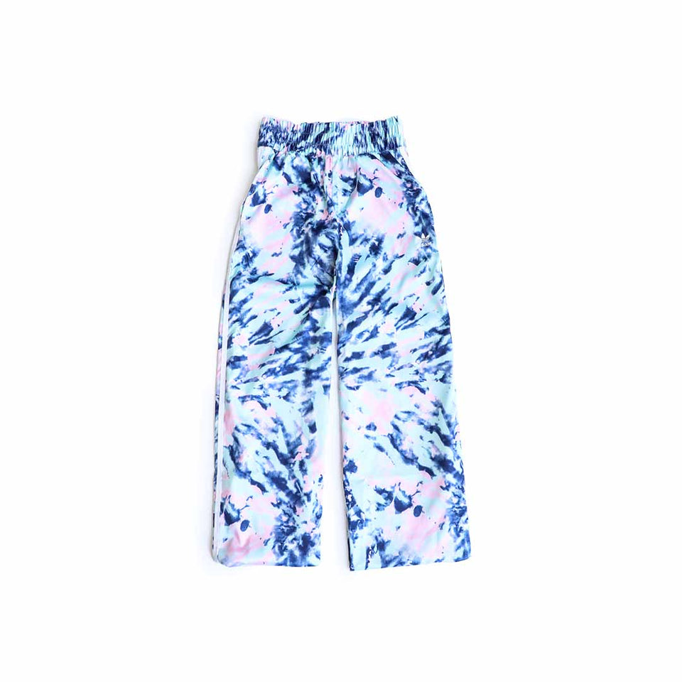 Adidas Women's Satin Pants (Multicolor/White/Vapor Blue/True Pink) - Adidas