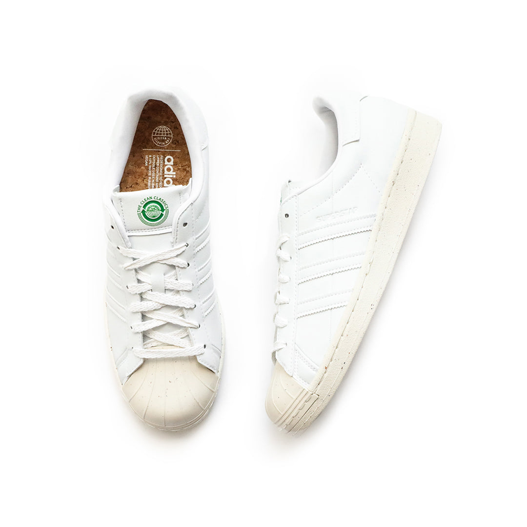 Adidas Superstar (White/Off White/Green) - Adidas Superstar (White/Off White/Green) -