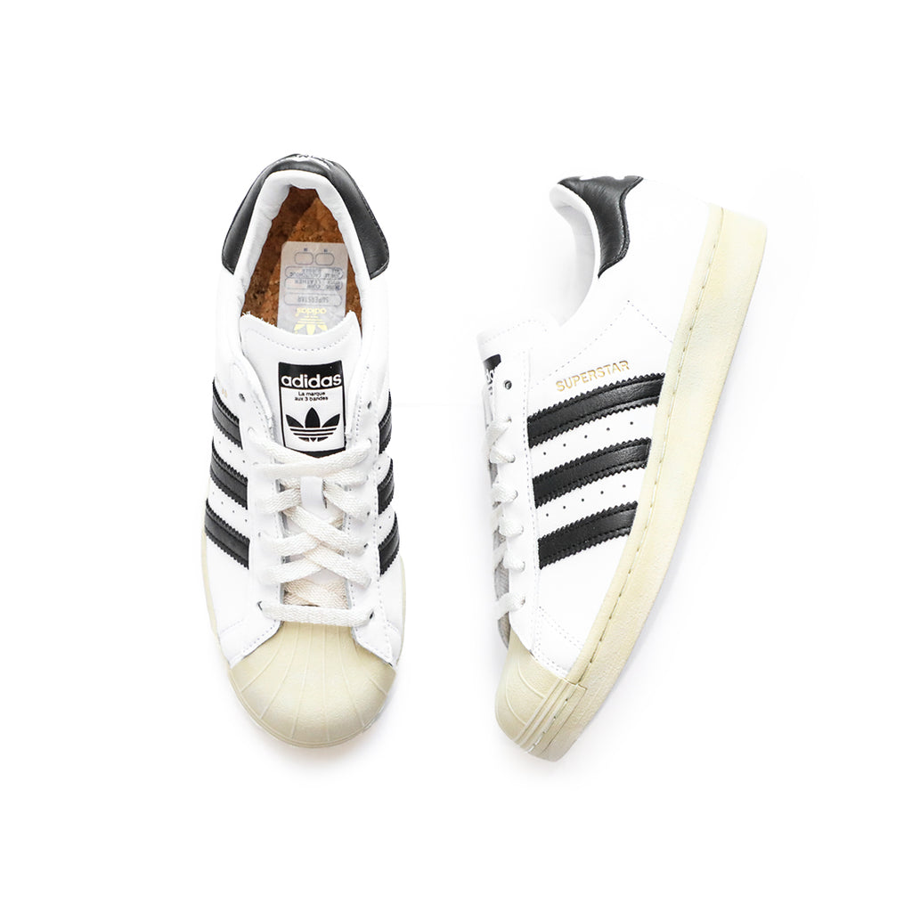 Adidas Superstar (Cloud White/Black/Blue)