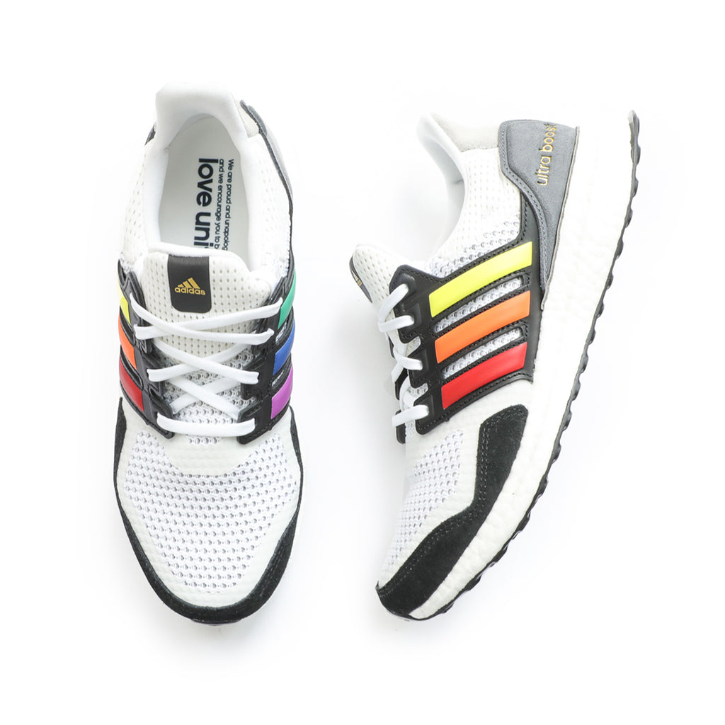 Adidas Ultraboost S&L Pride (Cloud White/Core Black/Gold Metallic)