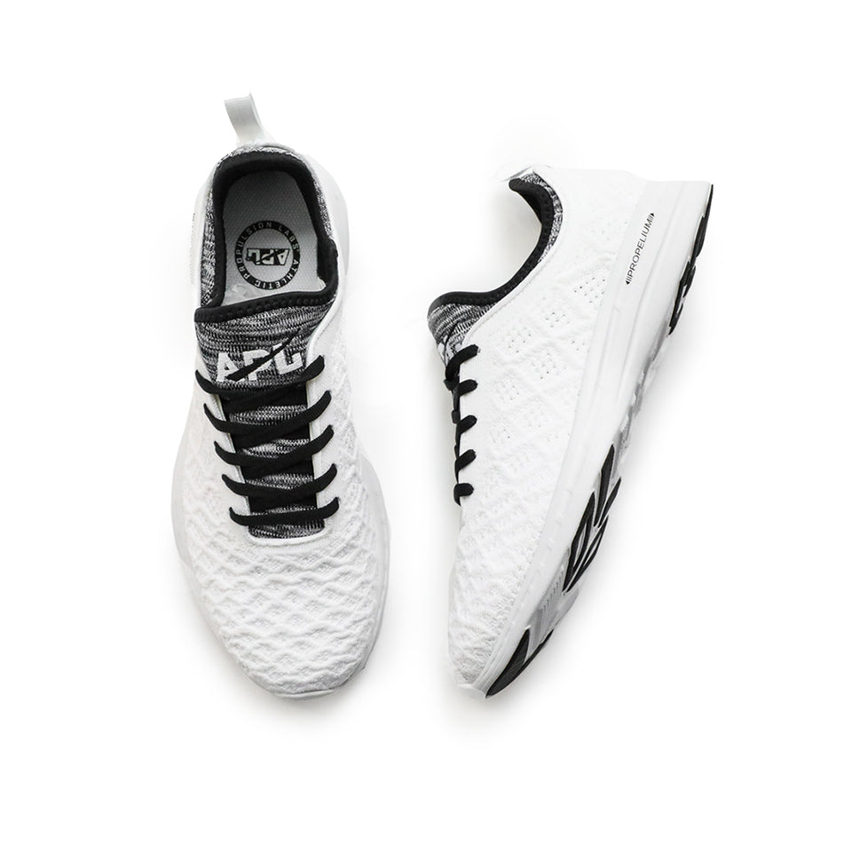APL Men's Techloom Phantom (White/Black/White Melange) - APL