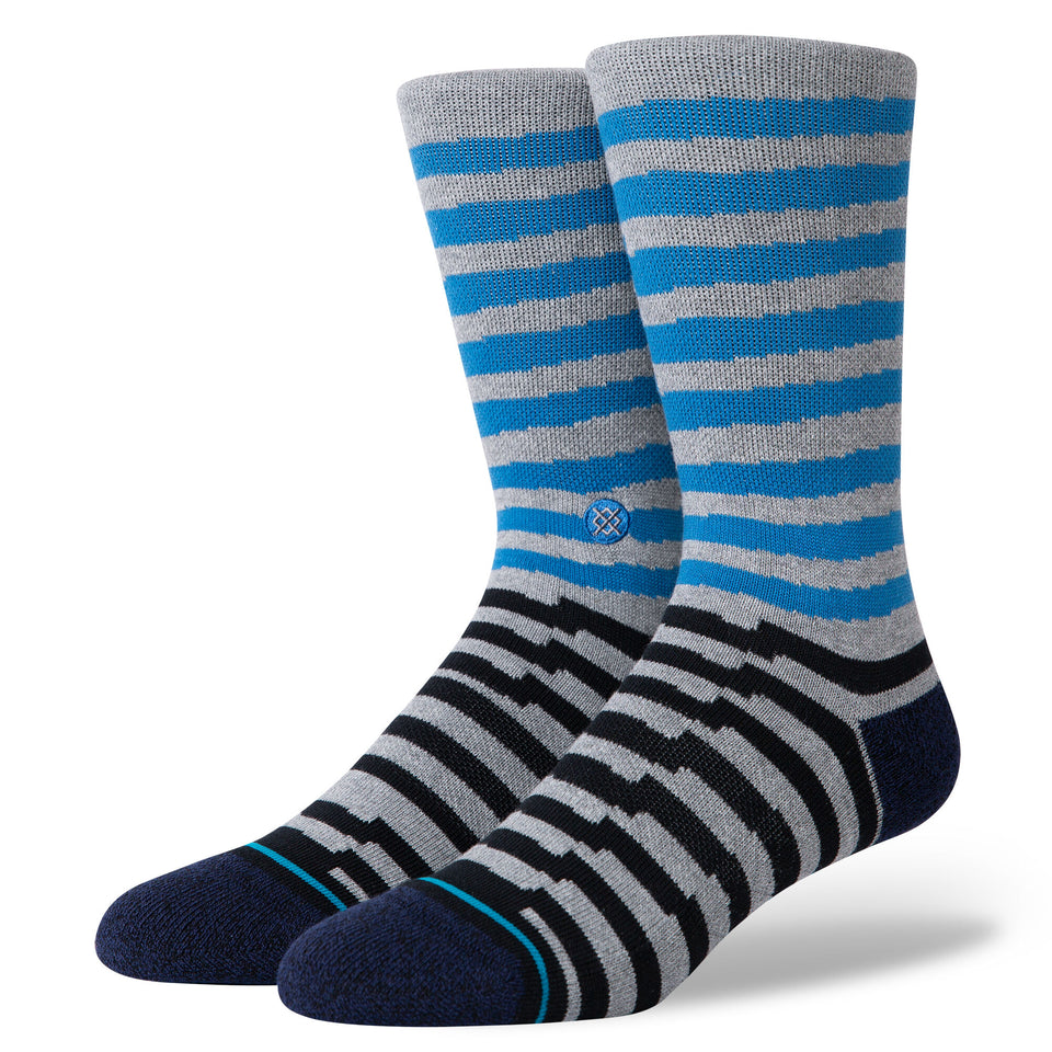 Stance Breakdown Crew Socks (Blue) - Socks