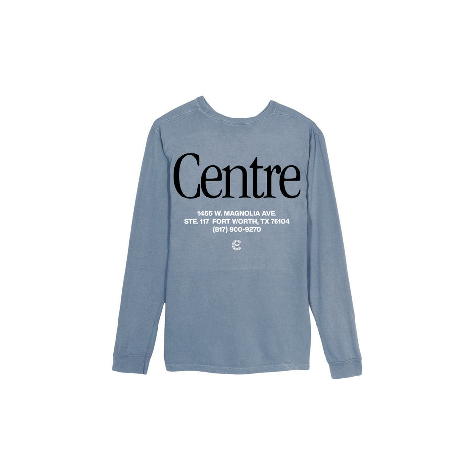 Centre Fort Worth Brick & Mortar Long Sleeve Tee (Blue Jean/Black) - Women