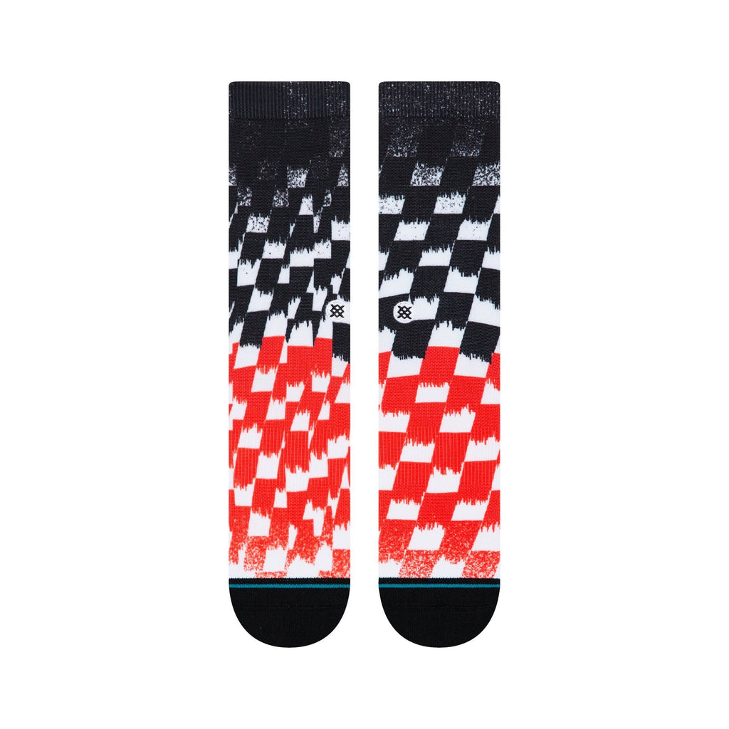Stance Blur Check Socks (Black)