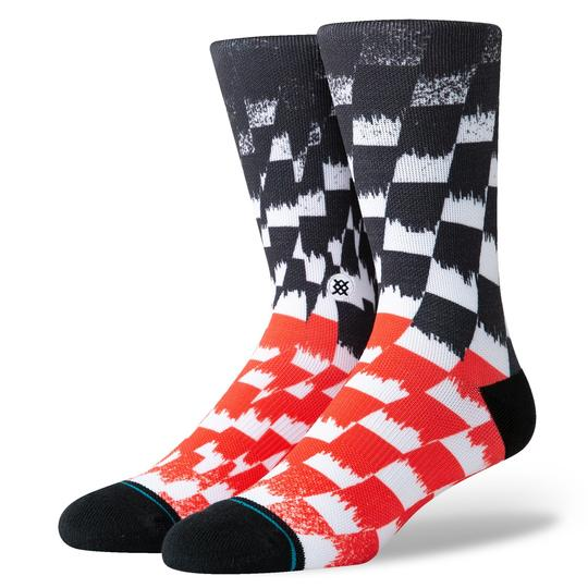 Stance Blur Check Socks (Black) - Stance Blur Check Socks (Black) -