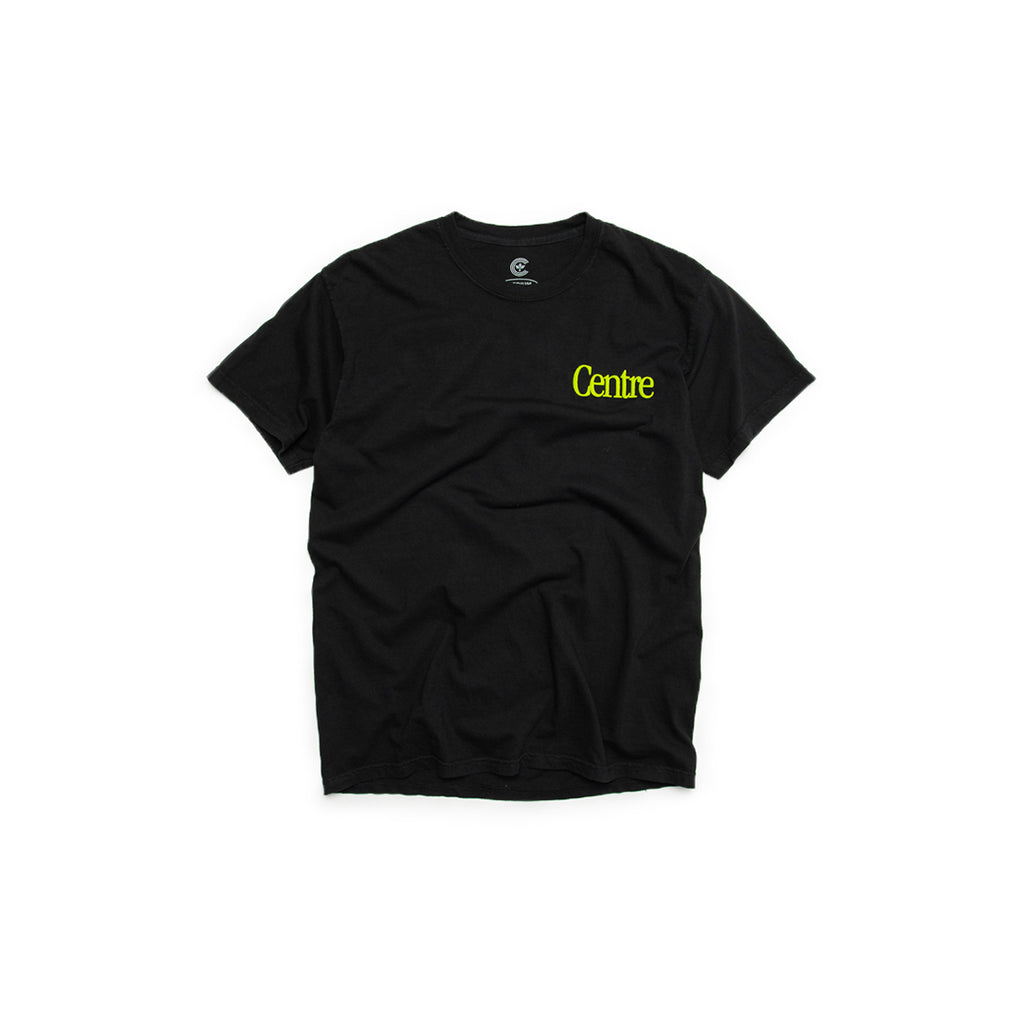 Centre Fort Worth Brick & Mortar Tee (Black/Hyper Green)