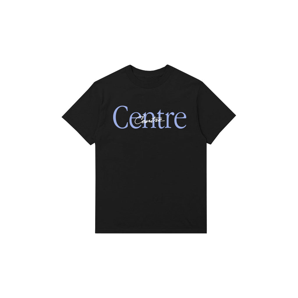Centre Mixed Media Script Tee (Black)