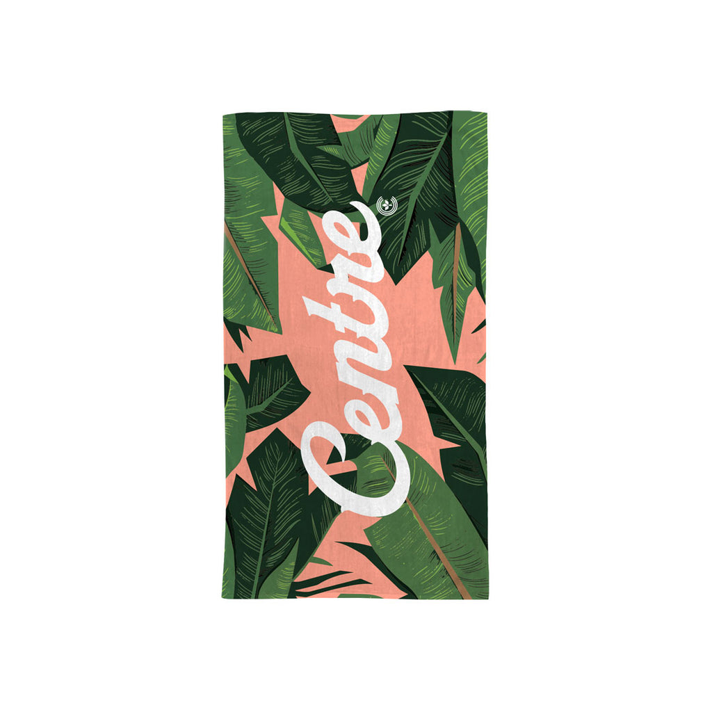 Centre Palm Leaf Summer Towel (Peach)