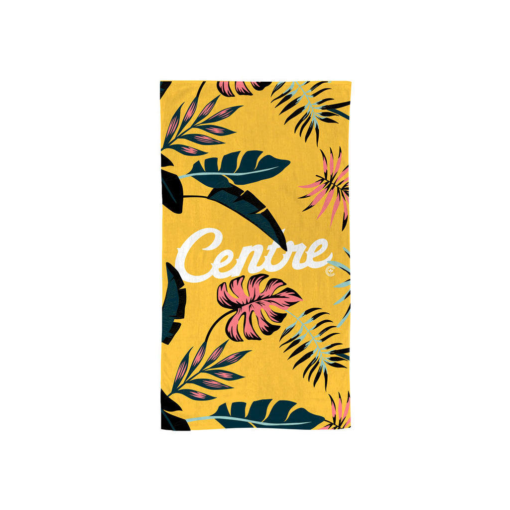 Centre Palm Leaf Summer Towel (Yellow)