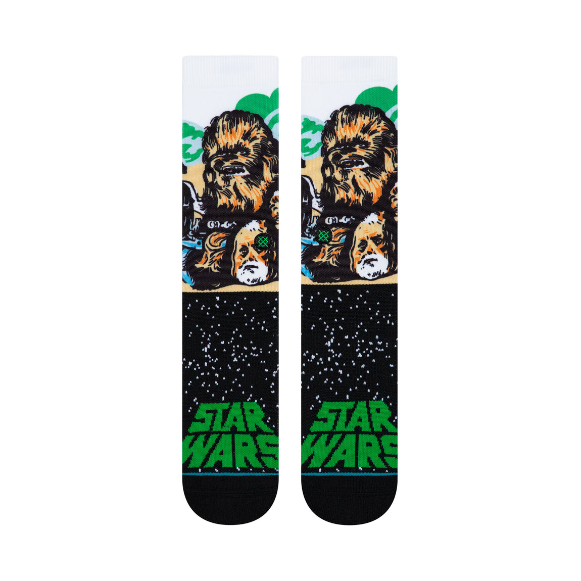 Stance X Star Wars Chewbacca Socks (Green) - Stance X Star Wars Chewbacca Socks (Green) -