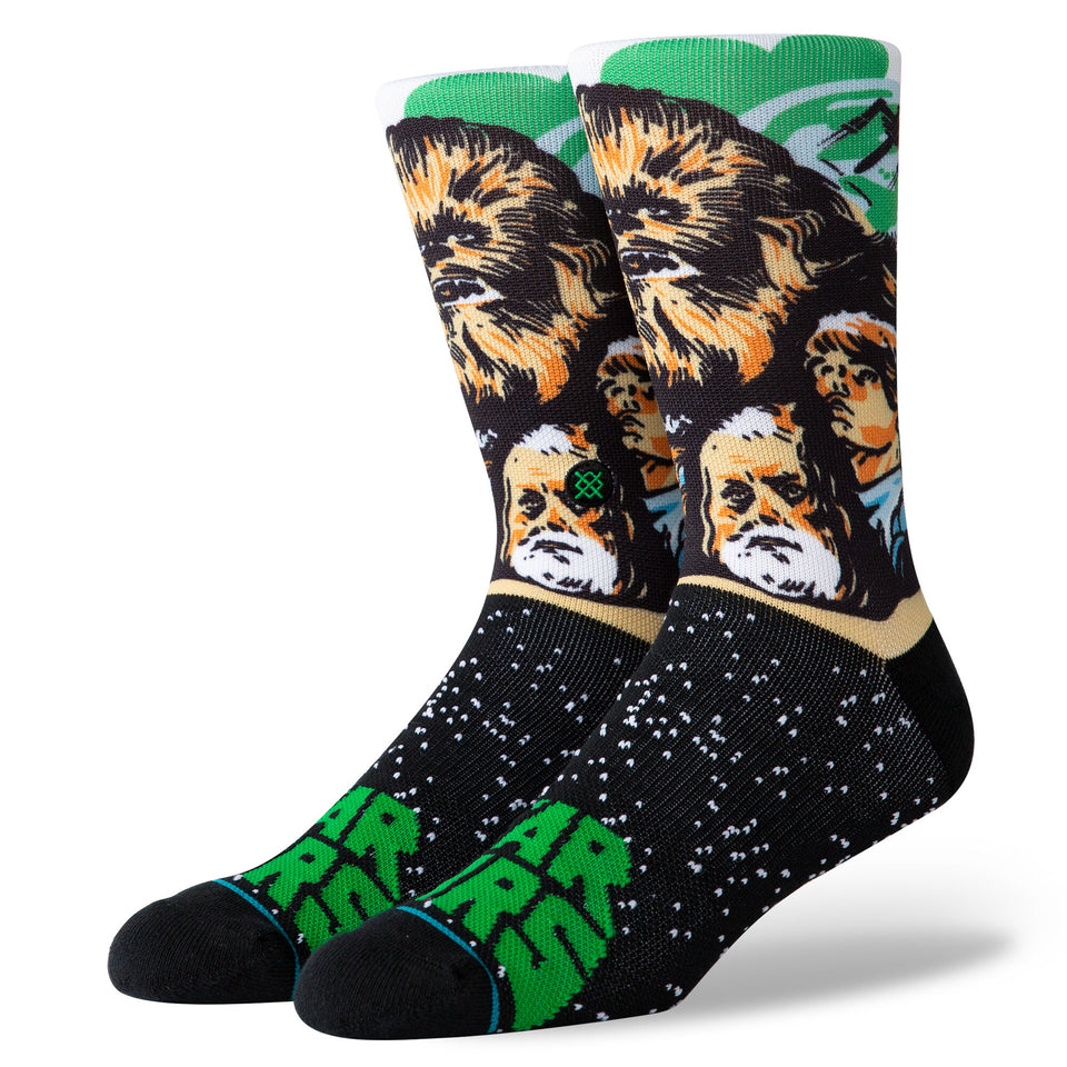 Stance X Star Wars Chewbacca Socks (Green) - Accessories